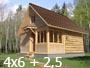 Дом баня 4х6 с верандой 2,5м. от Доброй бани