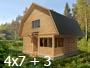 Дом баня 4х7 с верандой 3м. от Доброй бани