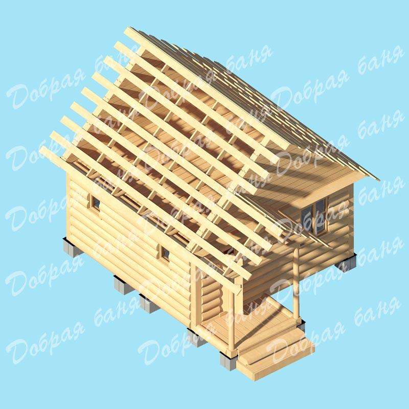 Викинг  проект двухэтажного дома с мансардным этажом и