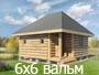 Сруб бани 6х6 с вальмовой крышей от Доброй бани